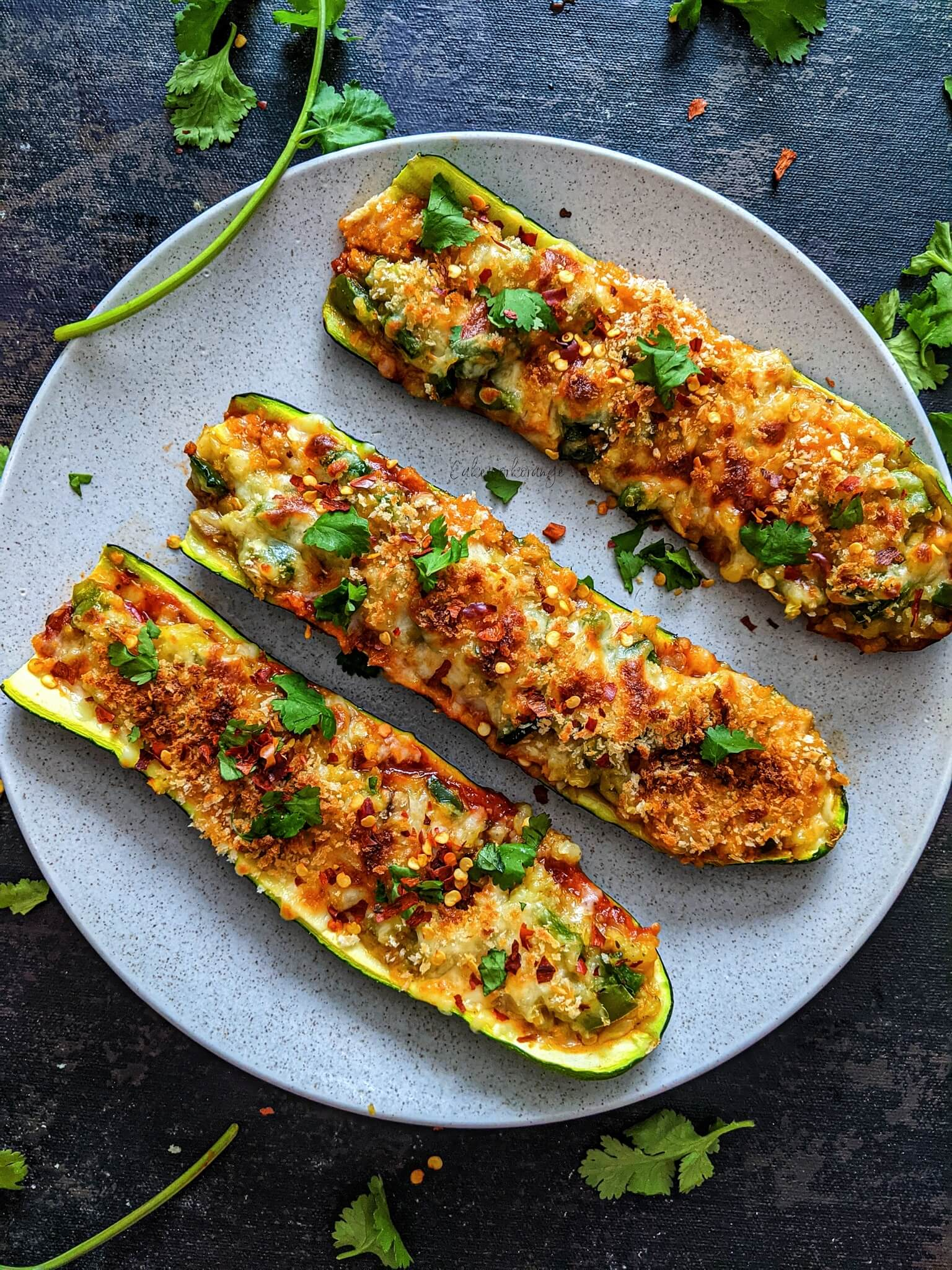 Zucchini Boats with Stuffed Vegetables
