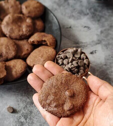 Ragi Chocolate Cookies Recipe