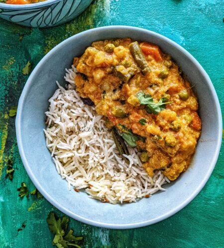 Instant Pot Vegetable Kurma | Mixed Vegetable Kurma