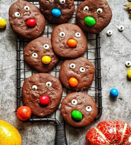 Halloween Chocolate Cookies/ Wholewheat cookies