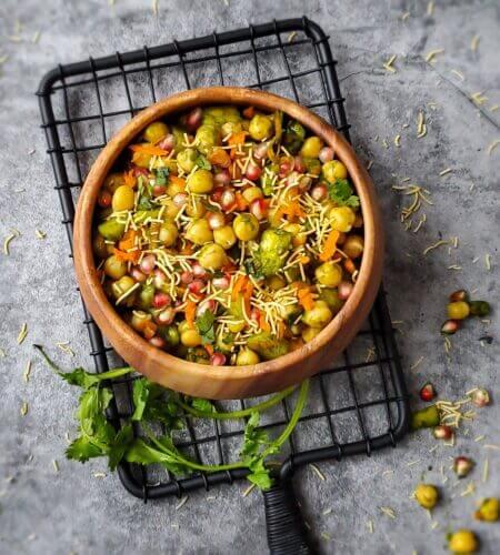 Chana Chaat Sundal | Chana Fruit Chaat