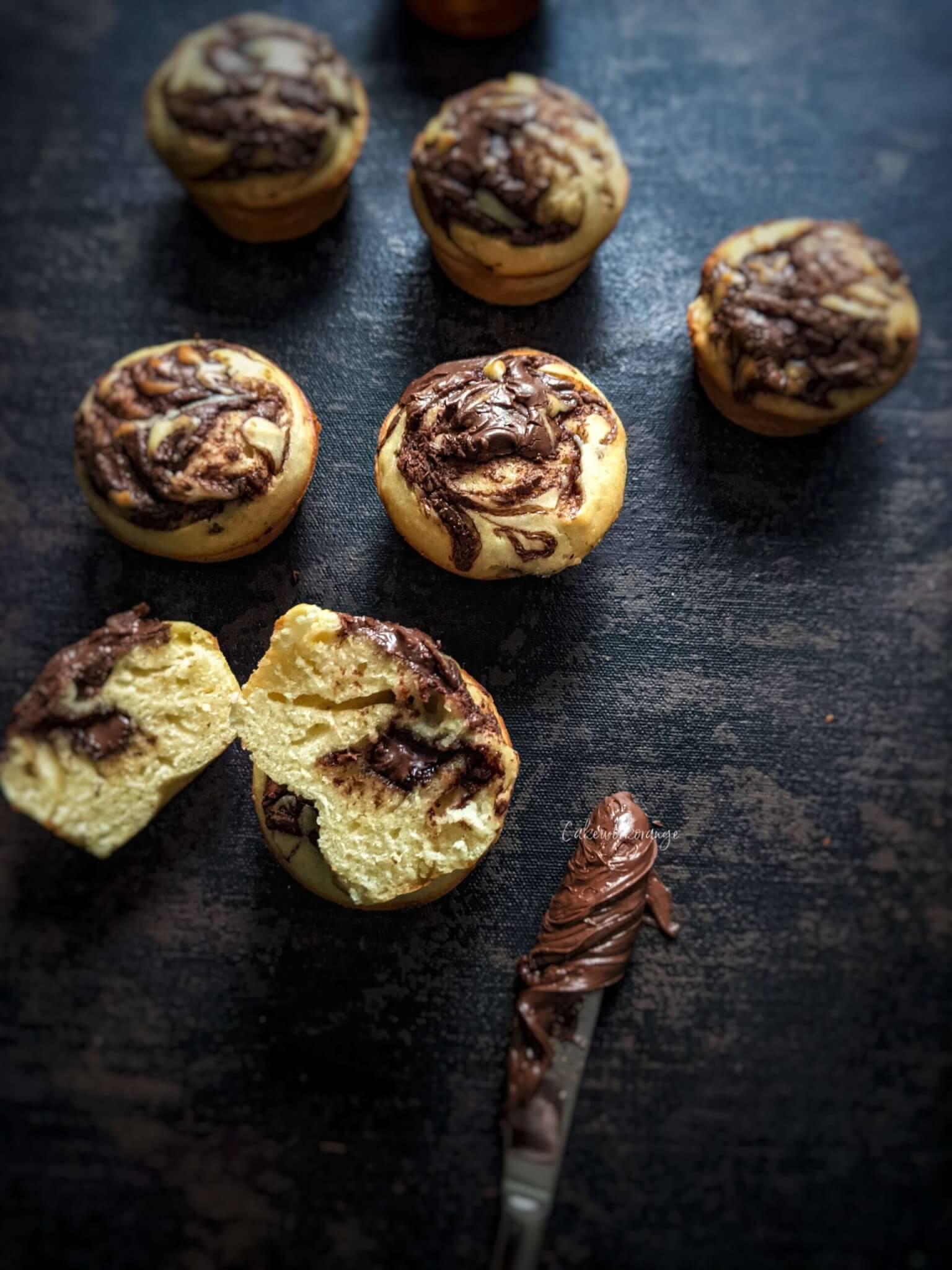 Nutella Muffins | Stuffed Nutella Muffins Recipe