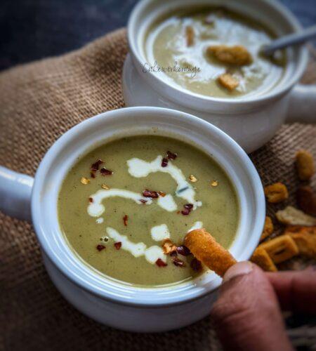 Asparagus & Cauliflower Soup in Instant Pot