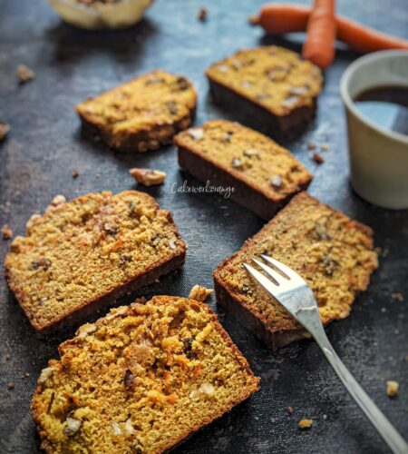 Carrot Walnut Cake | Wholewheat Carrot Cake