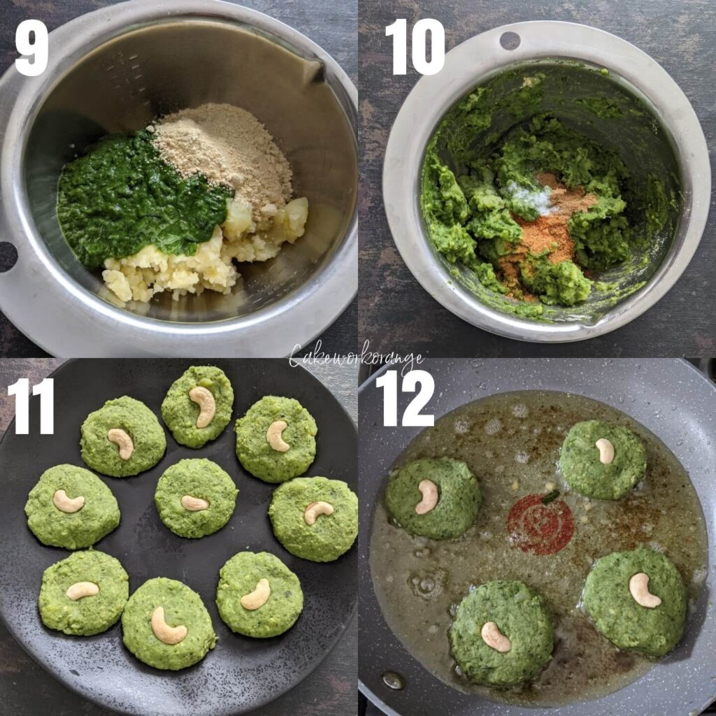 Spinach Veg Patties