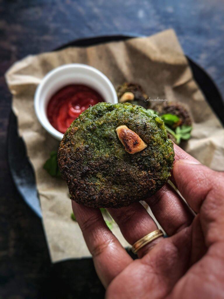 Spinach Vegetable kebabs