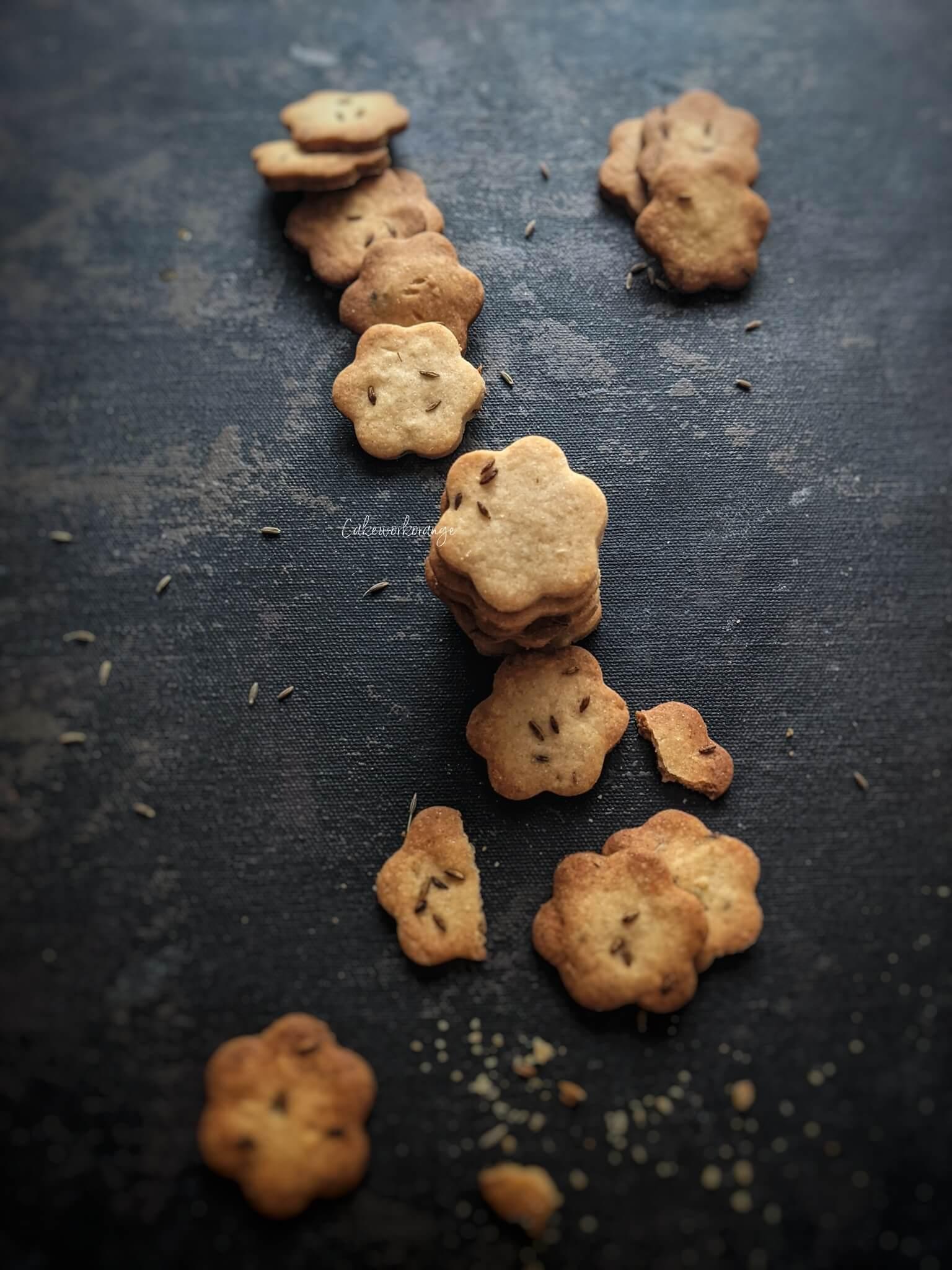 Wholewheat Cumin Cookies | Jeera Cookies