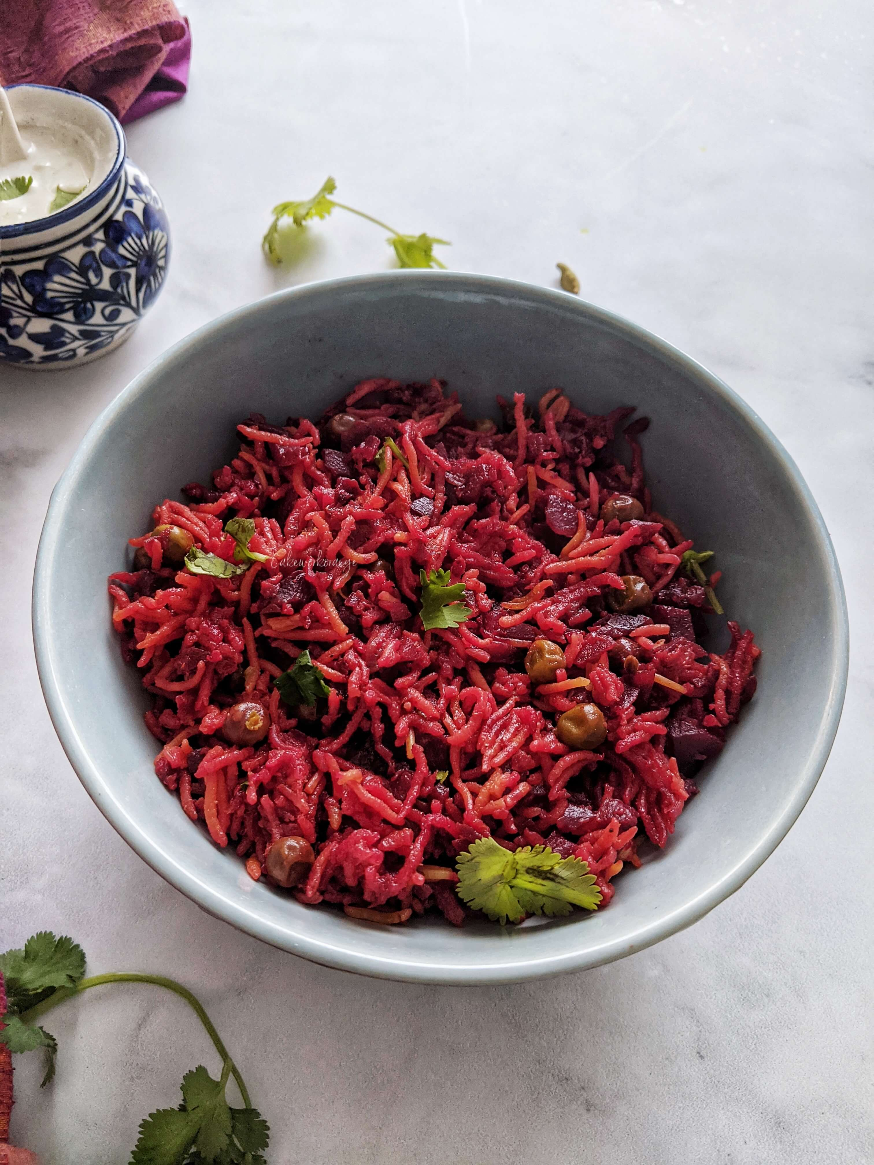 Instant Pot Beetroot Rice