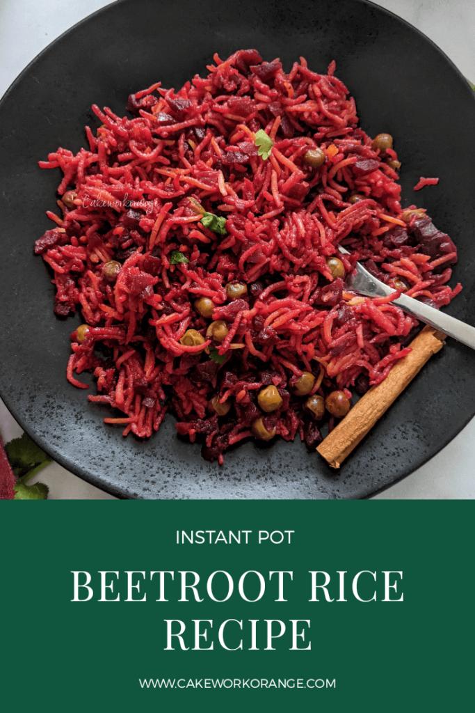 Instant Pot Beetroot Rice Recipe