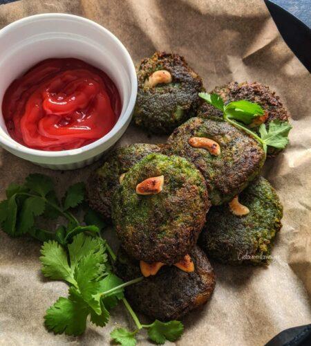 Spinach Vegetable Kebab | Veg Green Patties