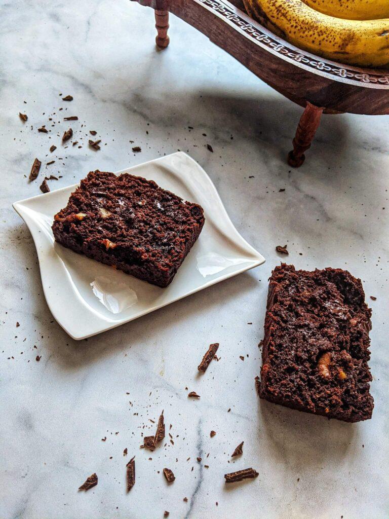 Double Chocolate Bnana Walnut Bread