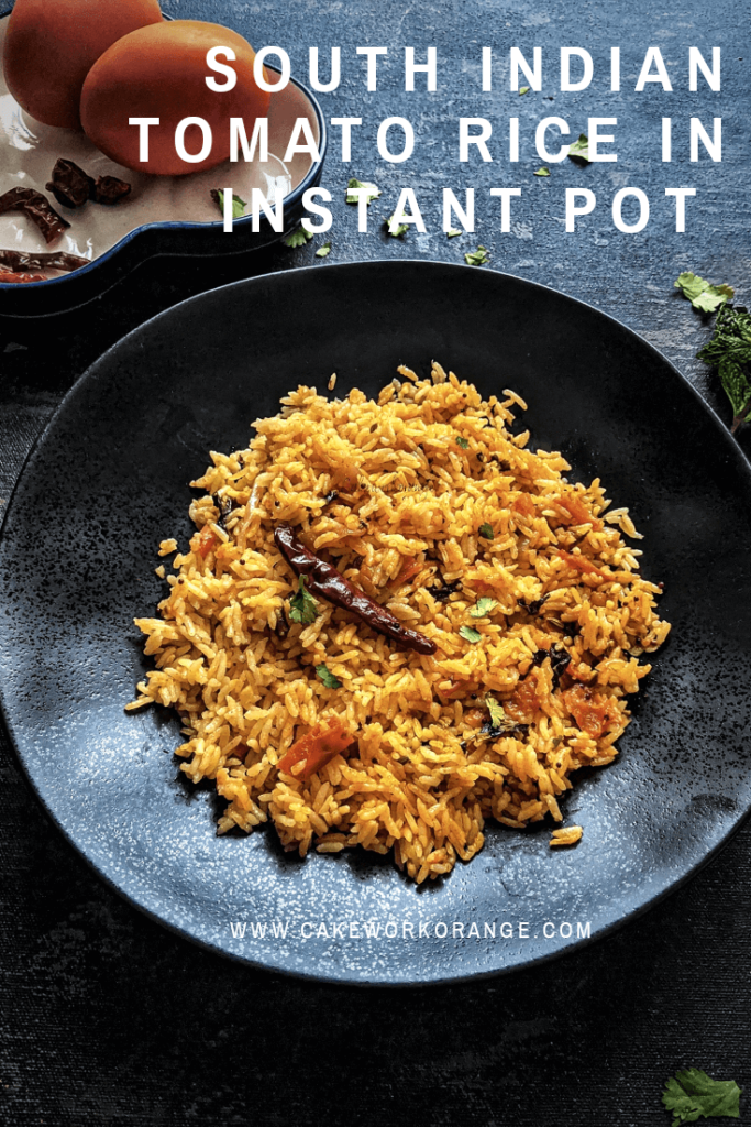 South Indian Tomato Rice in Instant Pot
