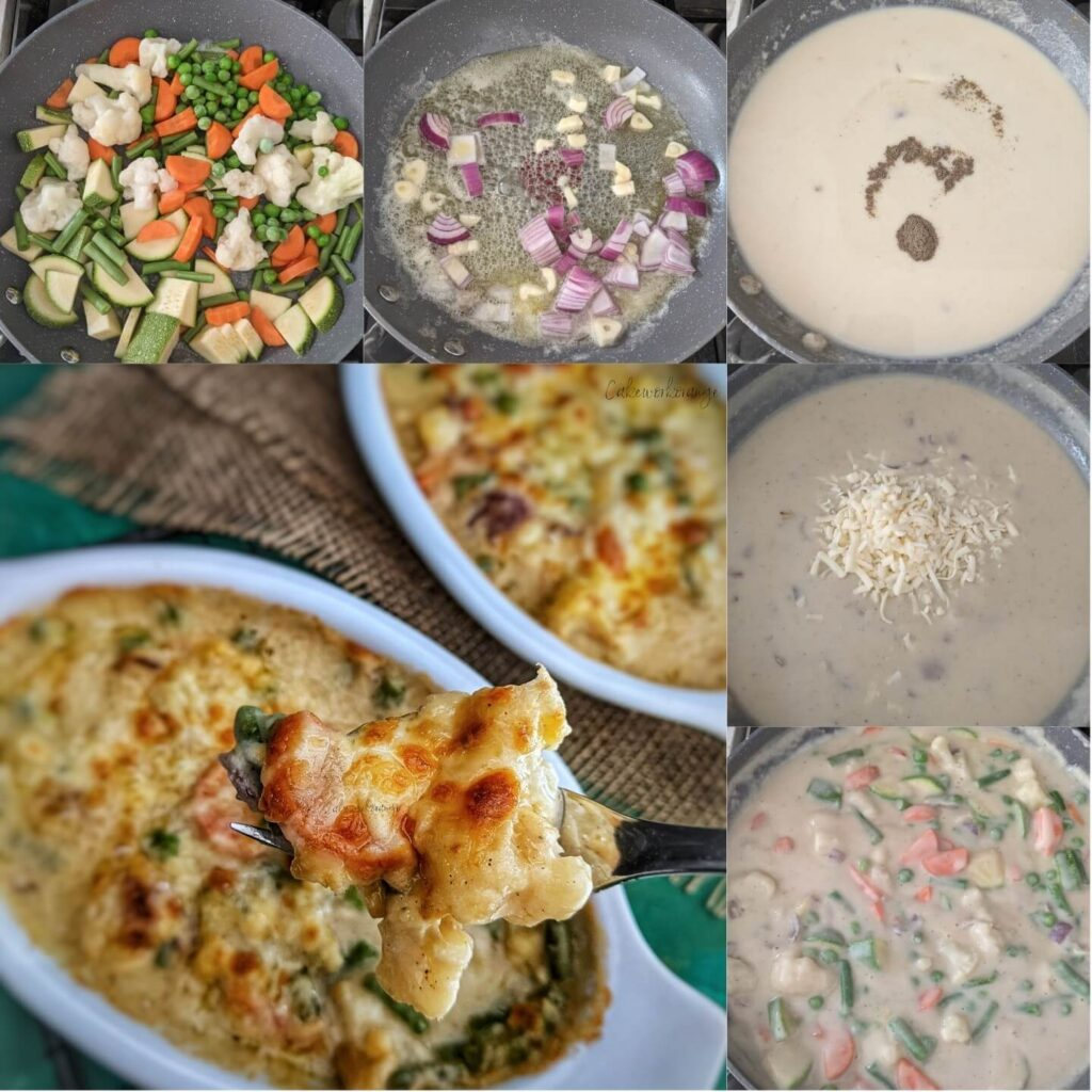 How to make vegetable au gratin