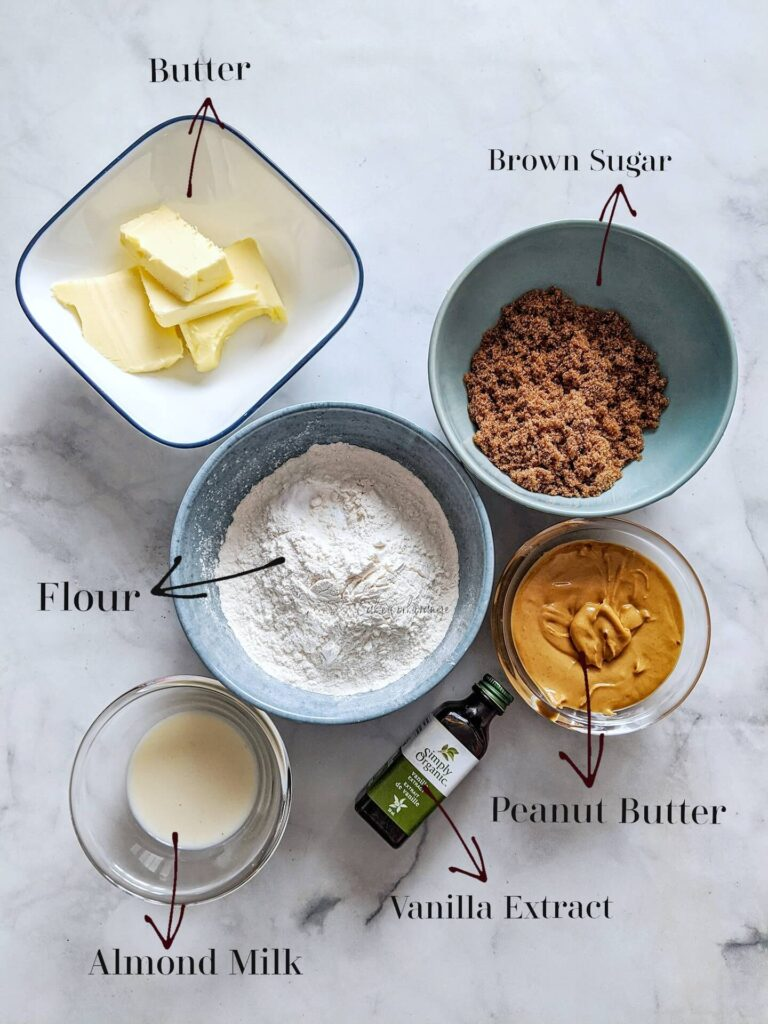 ingredients for peanut butter cookies