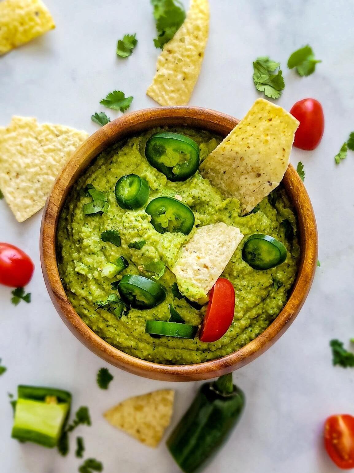 Cilantro Jalapeno Hummus in Instant Pot