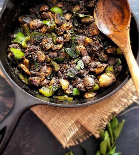 Easy Mushroom Pepper Fry