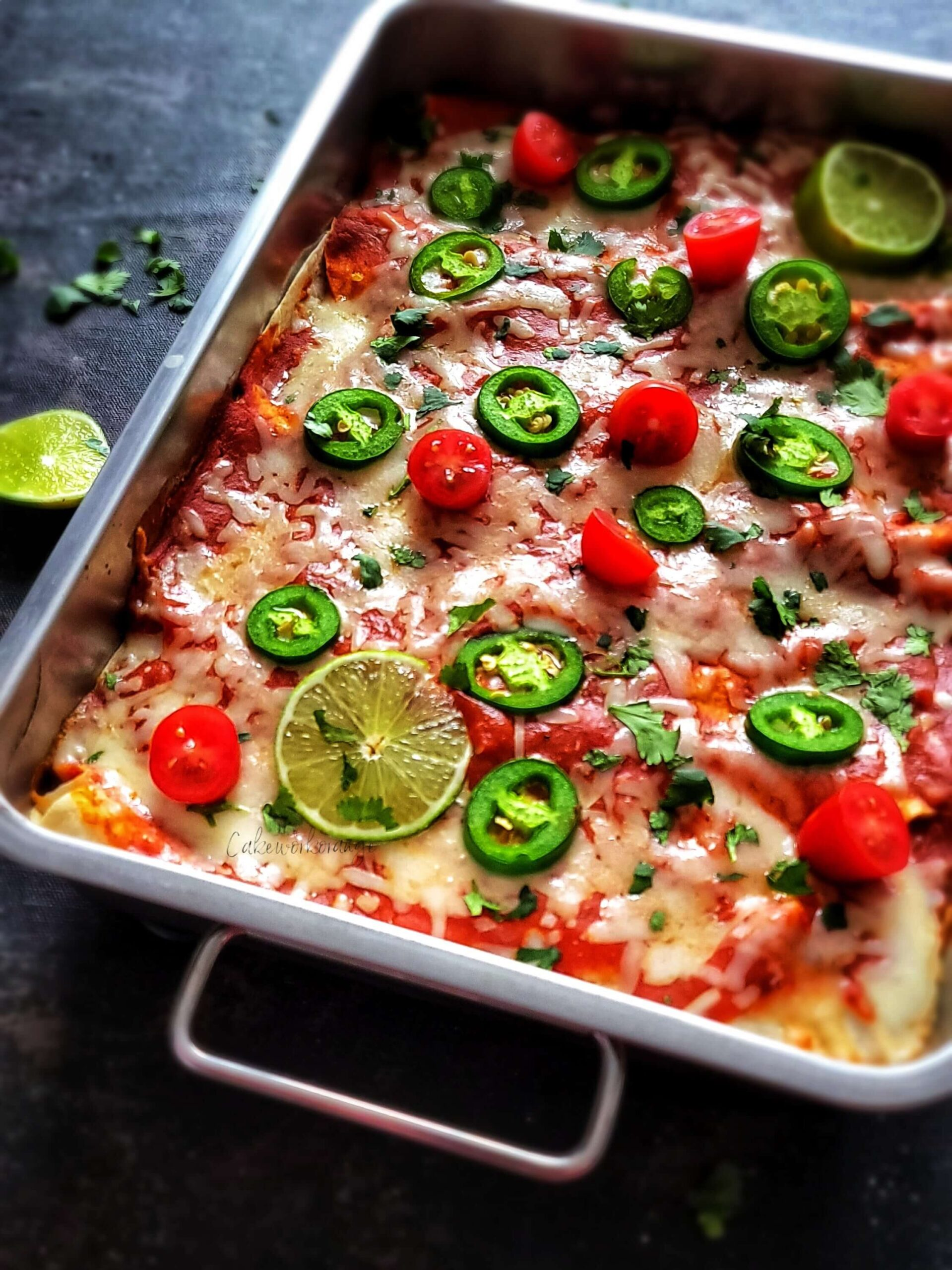 easy vegetarian enchiladas