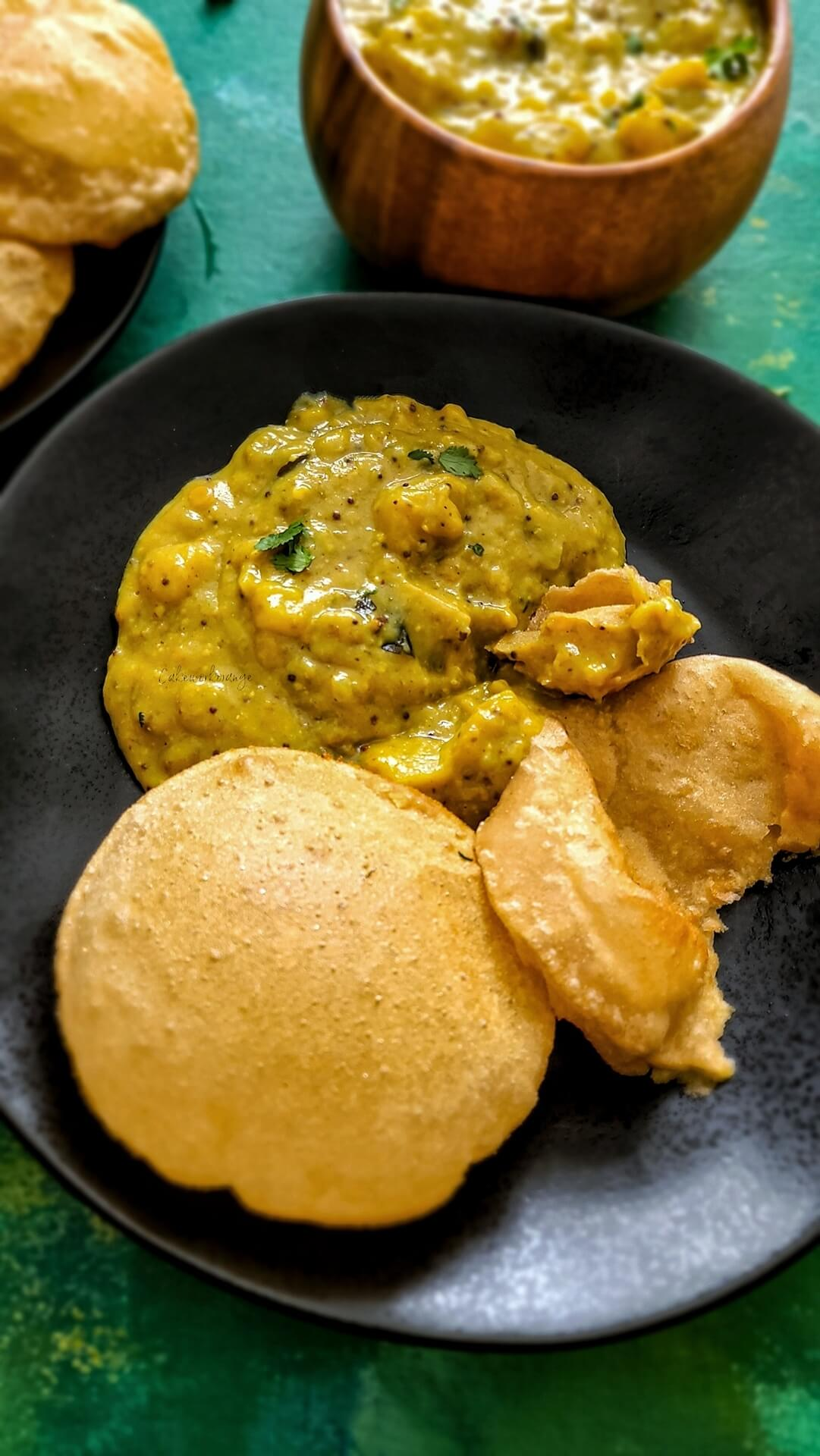 Potato Masala in Instant Pot | Poori Masala