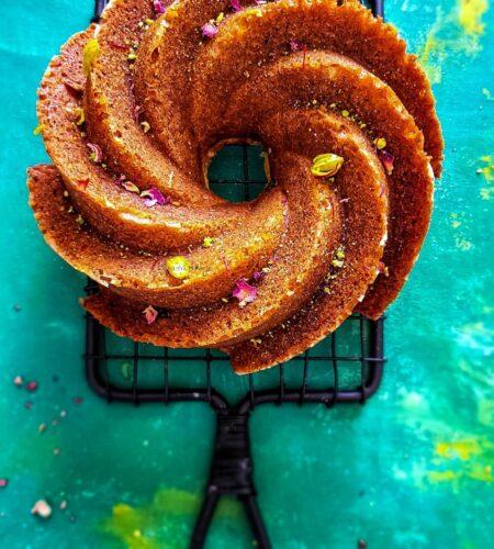 The Best Eggless Gulab Jamun Cake