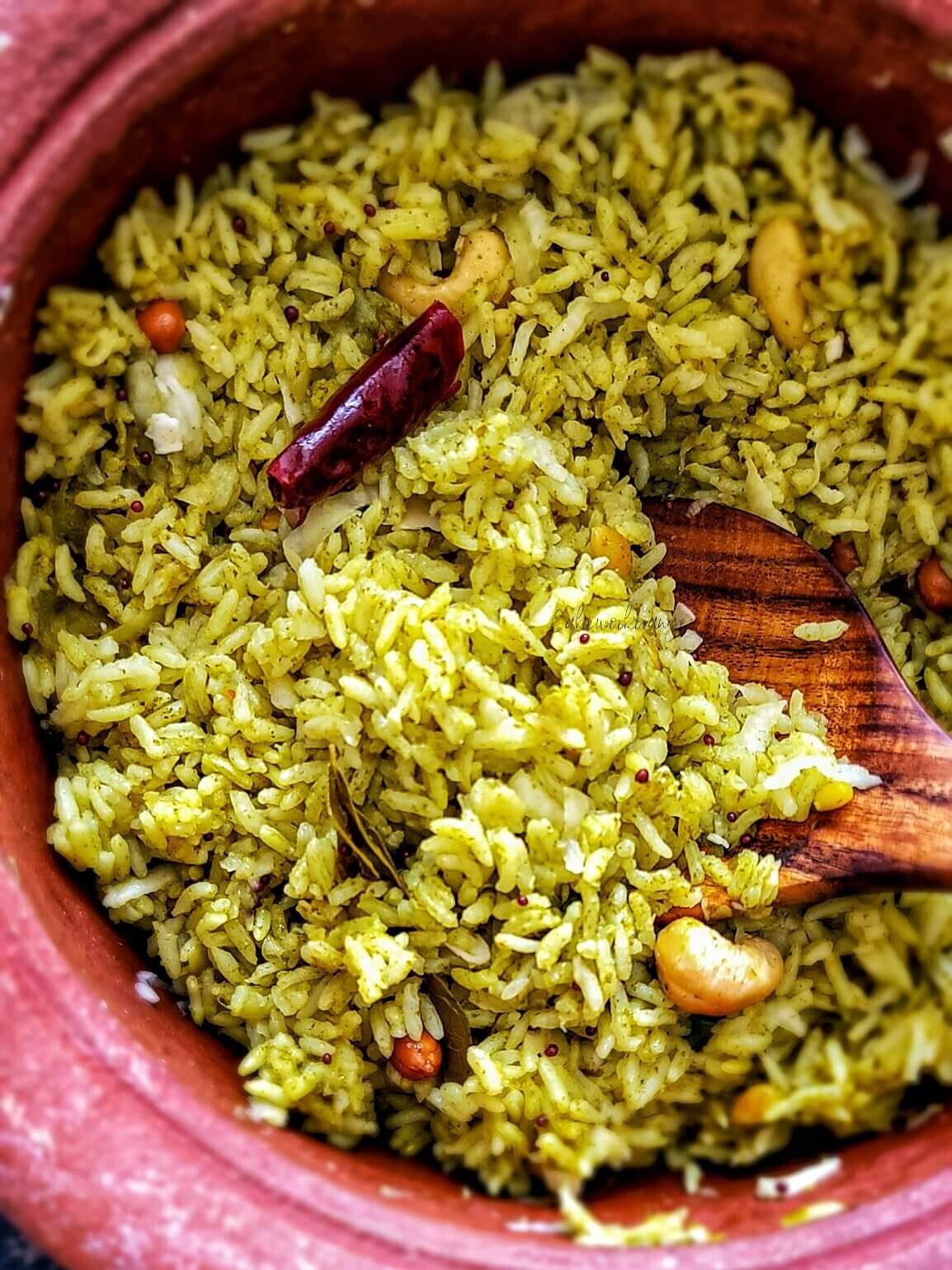 Raw Mango Cilantro Rice