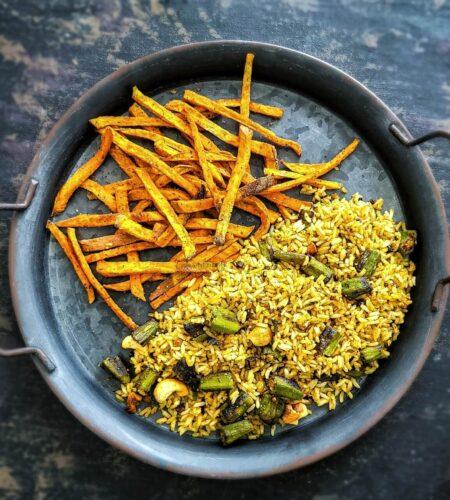 Okra Rice | Vendakkai Rice